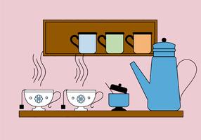 Vecteur de tasse de thé gratuit