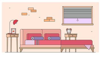 Camera da letto vettoriale