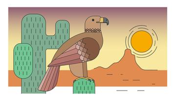 Vecteur aigle désert