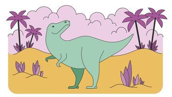 Vetor de dinossauro Tiranossauro