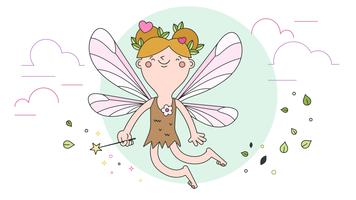 Forest Fairy Vector