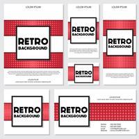 Fondo de estilo de semitono vintage plantilla de diseño