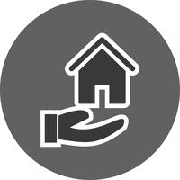 Haus an Hand Vektor Icon