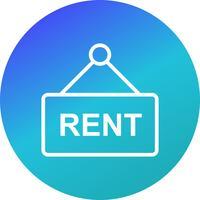 Rent Vector Icon
