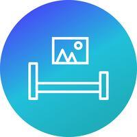 Icona di camera da letto vettoriale