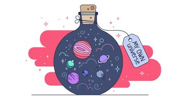Mi propio universo vector