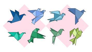 Vector de vuelo de origami