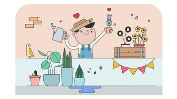 Pflanzenkindergarten-Vektor