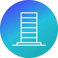 icône de vecteur de gratte-ciel