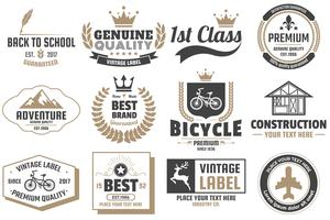 Vintage Retro Vector Labels voor banner