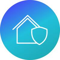 Protected House Vector Icon