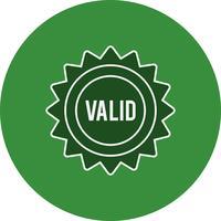 Icône de timbre valide de vecteur