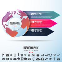 World Map Infographics Design Mall