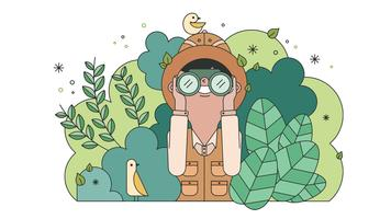 Vettore di Wild Life Explorer