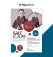 shopping flyer vector