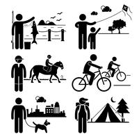 Recreational Outdoor Leisure Activities. vector