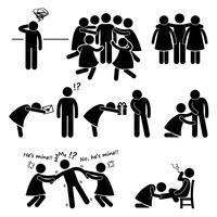 Popular Casanova Womanizer Stick Figure Pictogram Icon Cliparts.