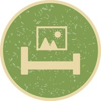Bed kamer vector pictogram