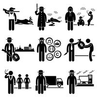 Illegal Activity Crime Jobs Occupations Careers.