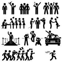 VIP Idol Celebrity Star Pictogram.