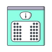 Icône de vecteur de machine de poids