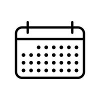 Vektor-Kalender-Symbol
