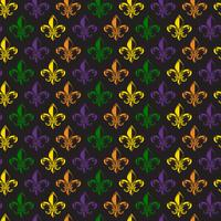 Mardi Gras Carnival seamless pattern with fleur-de-lis. Mardi Gras endless background, texture, wrapper. Vector.
