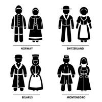 Europe  Traditional Costume Clothing.
