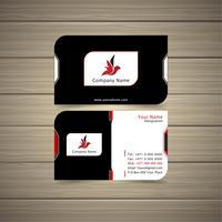Red & Black Business Card