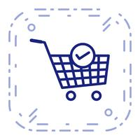 Vector Verified Cart Items Icon