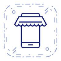 Icône de magasinage en ligne de vecteur