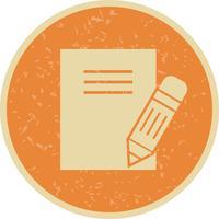 Icône de notes de vecteur