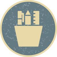 Vector icono de papelería