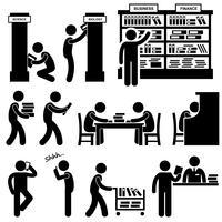Library Librarian Bookstore Student Pictograms.