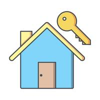 House Key Vector Icon