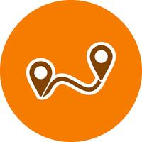 Icono de vector de ruta