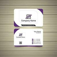 tarjeta de visita violeta