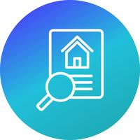 Property Search Vector Icon