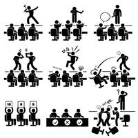 Auditions des juges Chant Performance Talent Show Stick Figure Icon Pictogram Icon.
