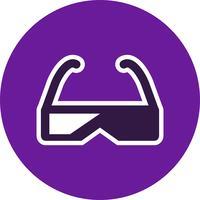 Icono de vector de gafas 3d