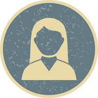 Vector Female Student Icon