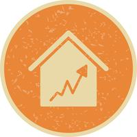 Graph House Vector Icon
