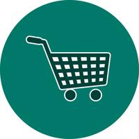 Vector icono de carrito de compras