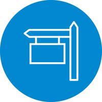 Icône de vecteur de panneau de signe