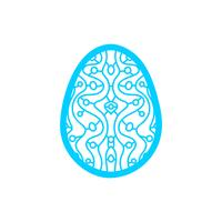Happy Easter Laser cutting template for greeting cards