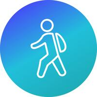 Vector Walking to School Icon