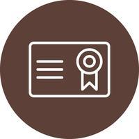 Certificat Vector Icône Vector