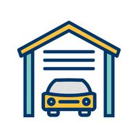 garage vector pictogram