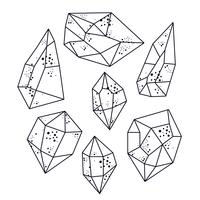 Magic crystals of pyramidal shape.