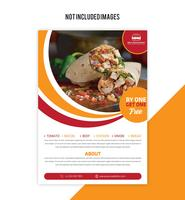 Food Flyer vector